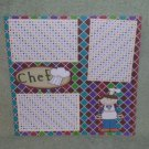 """Chef Girl""-Premade Scrapbook Page 12x12"