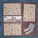 """Cookies""-Premade Scrapbook Page 12x12"