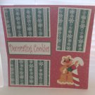 """Decorating Cookies Gingerbread Guy""-Premade Scrapbook Page 12x12"