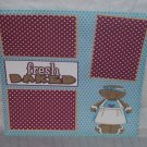 """Fresh Baked 2""-Premade Scrapbook Page 12x12"