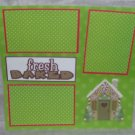 """""""Fresh Baked Gingerbread House""""-Premade Scrapbook Page 12x12"""