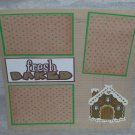 """""""Fresh Baked Gingerbread House a""""-Premade Scrapbook Page 12x12"""
