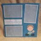 """""""Grandma's Helper Boy""""-Premade Scrapbook Page 12x12"""