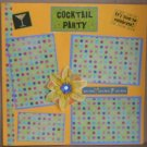 """Cocktail Party""-Premade Scrapbook Page 12x12"
