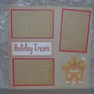 """Holiday Treats House js""-Premade Scrapbook Page 12x12"