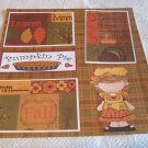 """Pumpkin Pie""-Premade Scrapbook Page 12x12"