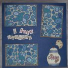 """I Love Cookies""-Premade Scrapbook Page 12x12"