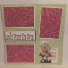 """Lovin' From The Oven""-Premade Scrapbook Page 12x12"