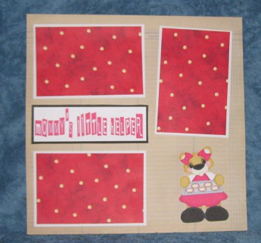 """Mommy's Little Helper Girl""-Premade Scrapbook Page 12x12"