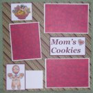 """""""Mom's Cookies 2""""-Premade Scrapbook Page 12x12"""
