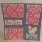 """Mom's Kitchen""-Premade Scrapbook Page 12x12"