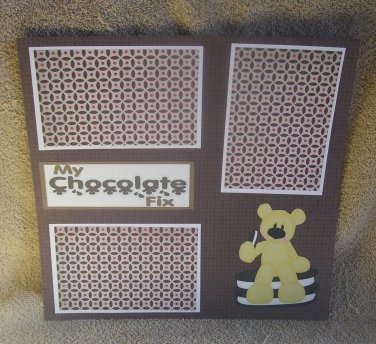 """My Chocolate Fix""-Premade Scrapbook Page 12x12"