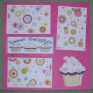"""Sweet Delights""-Premade Scrapbook Page 12x12"