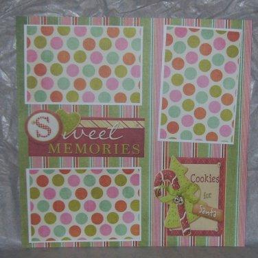 """Sweet Memories nw""-Premade Scrapbook Page 12x12"