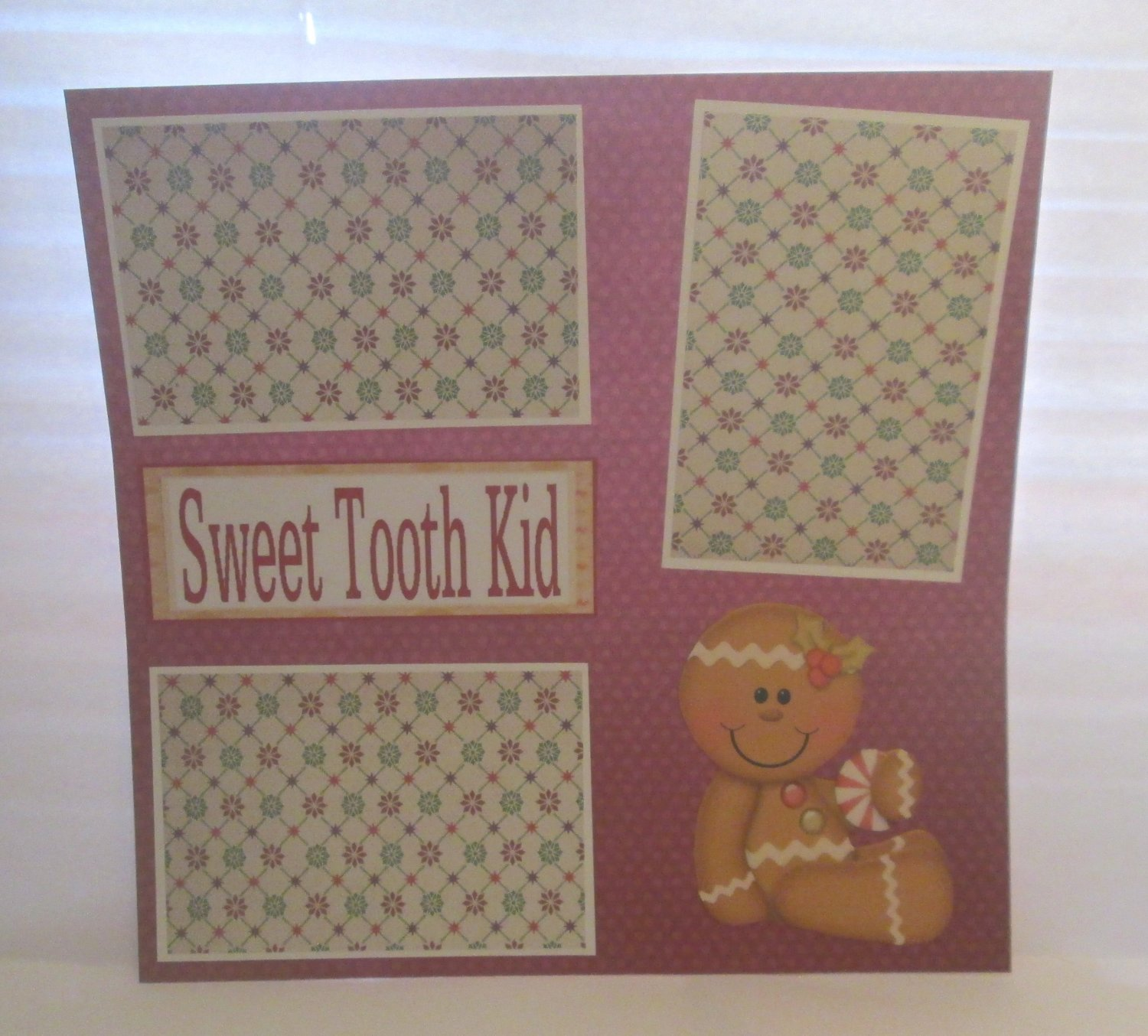 """""""Sweet Tooth Kid""""-Premade Scrapbook Page 12x12"""