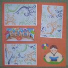 """A Day At The Beach Boy 2""-Premade Scrapbook Page 12x12"