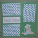 """Beach Baby Girl""-Premade Scrapbook Page 12x12"