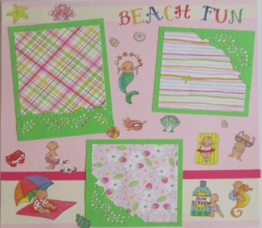 """Beach Fun st""-Premade Scrapbook Page 12x12"