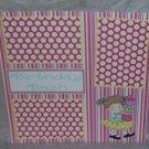 """Birthday Bash Girl""-Premade Scrapbook Page 12x12"