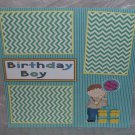"""Birthday Boy 1""-Premade Scrapbook Page 12x12"