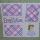 """Birthday Girl 3""-Premade Scrapbook Page 12x12"