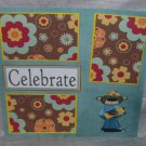 """Celebrate Bear""-Premade Scrapbook Page 12x12"