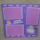 """Happy Birthday 1a""-Premade Scrapbook Page 12x12"