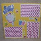 """Happy Birthday 1a4""-Premade Scrapbook Page 12x12"