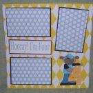 """Hooray I'm Four""-Premade Scrapbook Page 12x12"