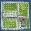 """""""Look At Me I'm Three""""-Premade Scrapbook Page 12x12"""