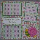 """A Pinch To Grow An Inch Boy""-Premade Scrapbook Page 12x12"