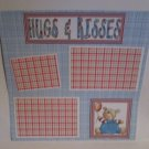 """Hugs and Kisses Boy c""-Premade Scrapbook Page 12x12"