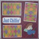 """Just Chillin""-Premade Scrapbook Page 12x12"
