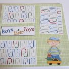 """""""Boys and Their Toys""""-Premade Scrapbook Page 12x12"""