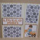 """Little Man bl""-Premade Scrapbook Page 12x12"