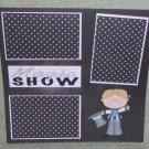 """Magic Show Boy""-Premade Scrapbook Page 12x12"