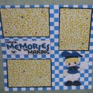 """Magical Memories Boy""-Premade Scrapbook Page 12x12"