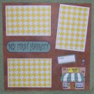 """""""My First Haircut Boy""""-Premade Scrapbook Page 12x12"""
