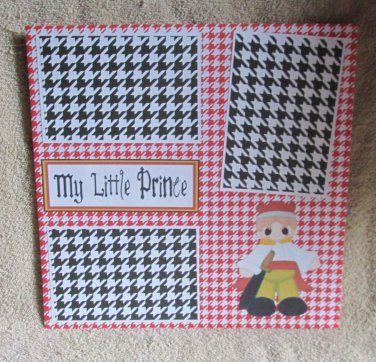 """""""My Little Prince""""-Premade Scrapbook Page 12x12"""
