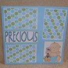 """Precious Boy bl""-Premade Scrapbook Page 12x12"
