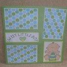"""Sweet Little Boy bl""-Premade Scrapbook Page 12x12"