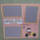"""""""Take The Checkered Flag Boy""""-Premade Scrapbook Page 12x12"""