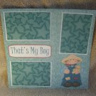 """That's My Boy Country a""-Premade Scrapbook Page 12x12"
