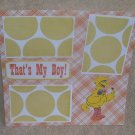 """""""That's My Boy ss""""-Premade Scrapbook Page 12x12"""