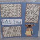 """Bathtime Bear""-Premade Scrapbook Page 12x12"