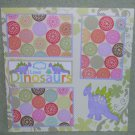 """""""I Love Dinosaurs nw""""-Premade Scrapbook Page 12x12"""