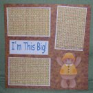 """I'm This Big Bear""-Premade Scrapbook Page 12x12"