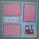 """""""My First Train Ride 2""""-Premade Scrapbook Page 12x12"""