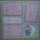 """Nighty Night""-Premade Scrapbook Page 12x12"