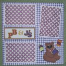"""Pb & J's""-Premade Scrapbook Page 12x12"